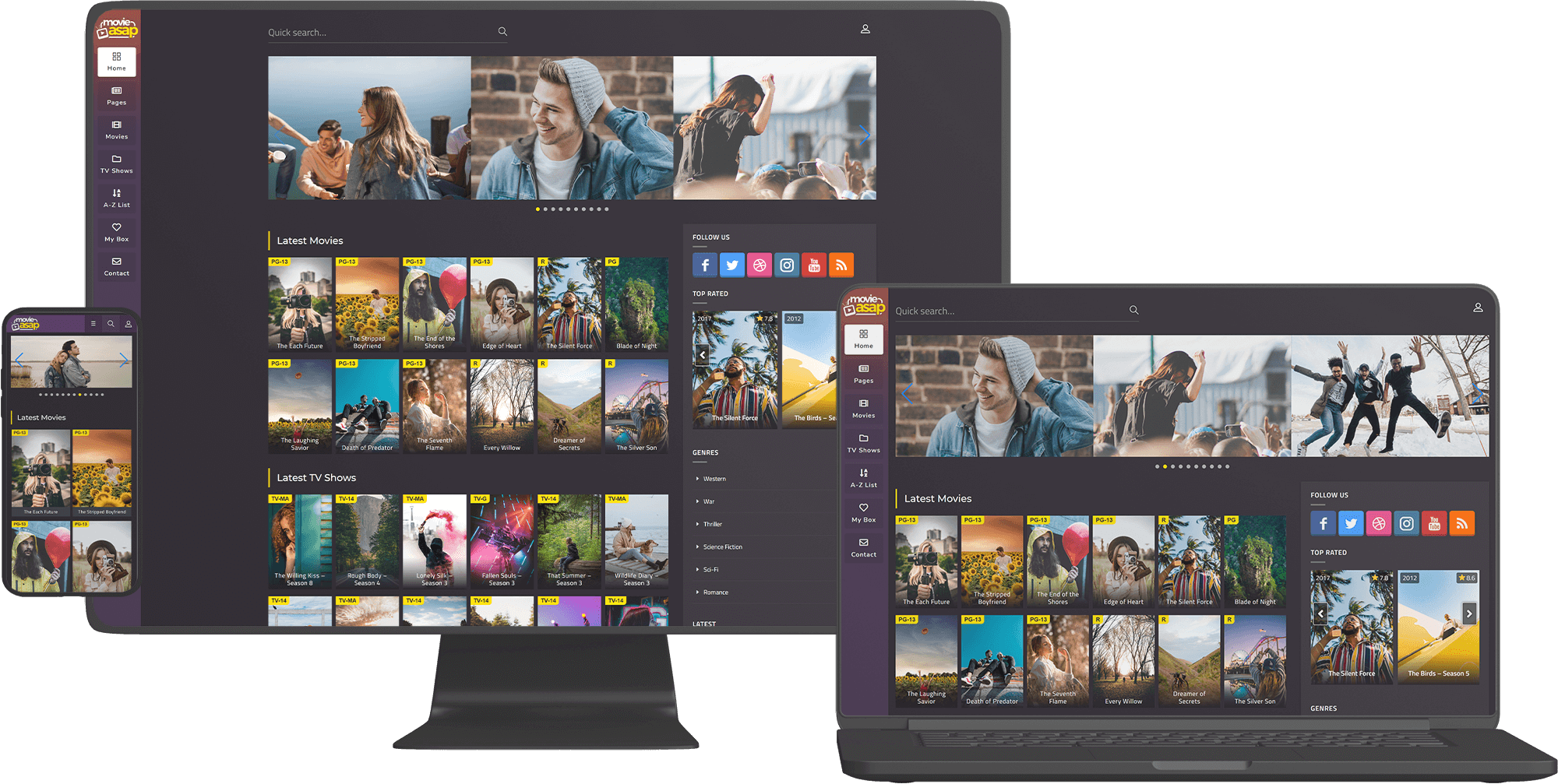 MovieAsap Premium WordPress Themes Fully Responsive