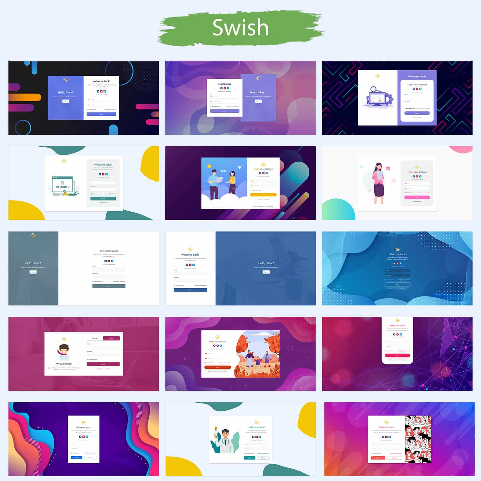 Swish - Login Template Bootstrap