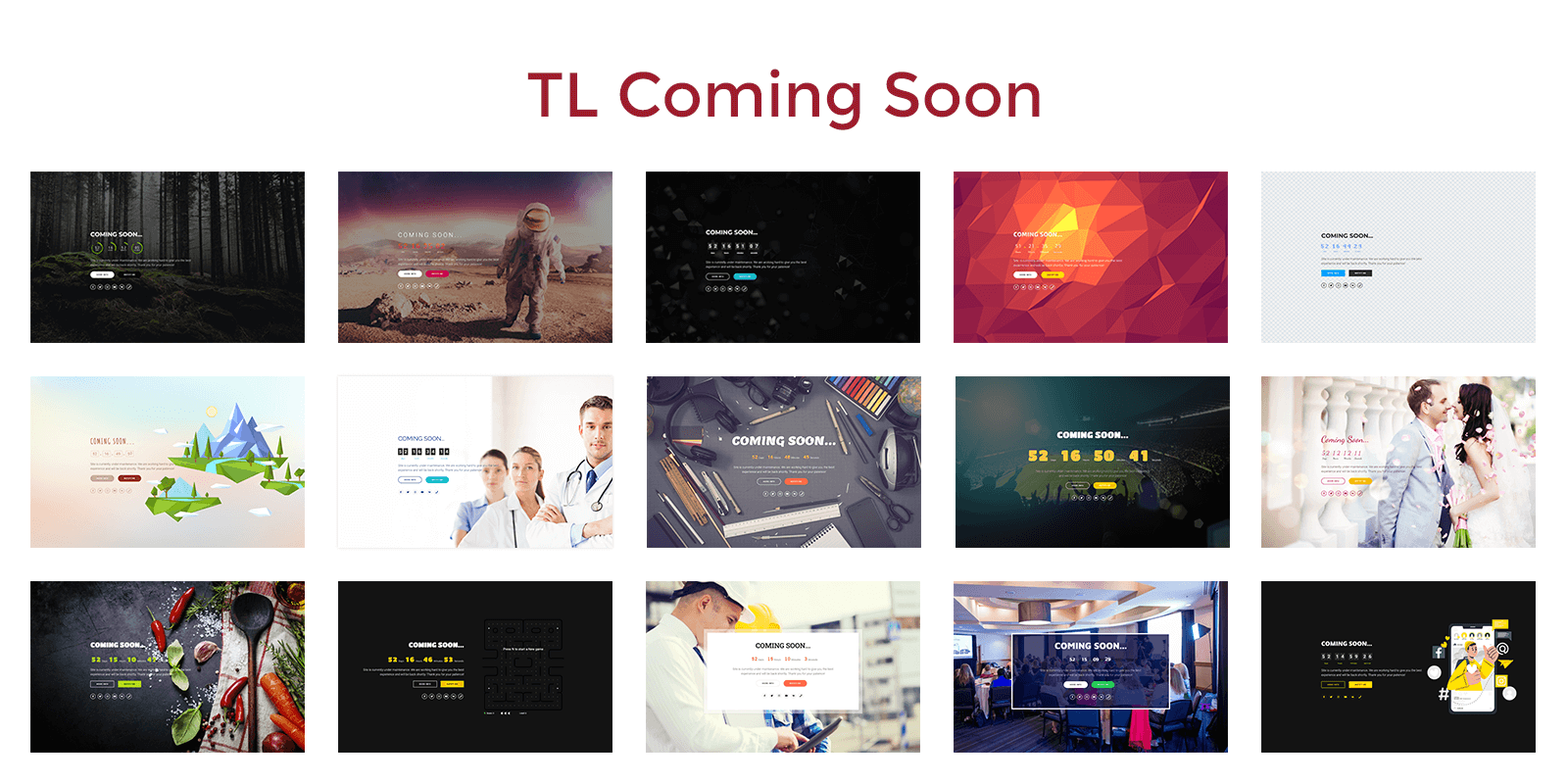 TL Coming Soon – Maintenance Mode & Under Construction